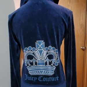 Juicy Couture Navy blue velour outfit EUC